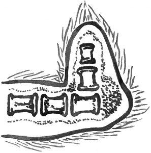 Угловая деформация оси хвостового стебля